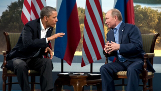 http://commons.wikimedia.org/wiki/File:Barack_Obama_and_Vladmir_Putin_at_G8_summit,_2013.jpg