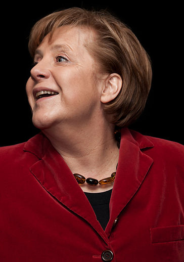 Angela Merkel http://commons.wikimedia.org/wiki/File:Angela_Merkel_IMG_4162_edit.jpg