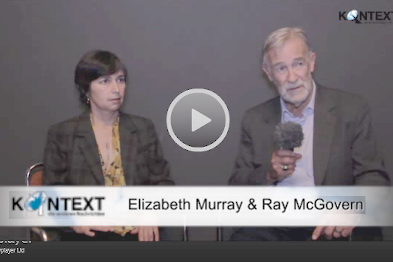 Interview mit Elizabeth Murray und Ray McGovern